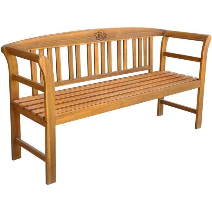Economique Magnifique Haute qualité Luxueux Banc de jardin Bois d'acacia massif 157 x 45 x 82,5 cm