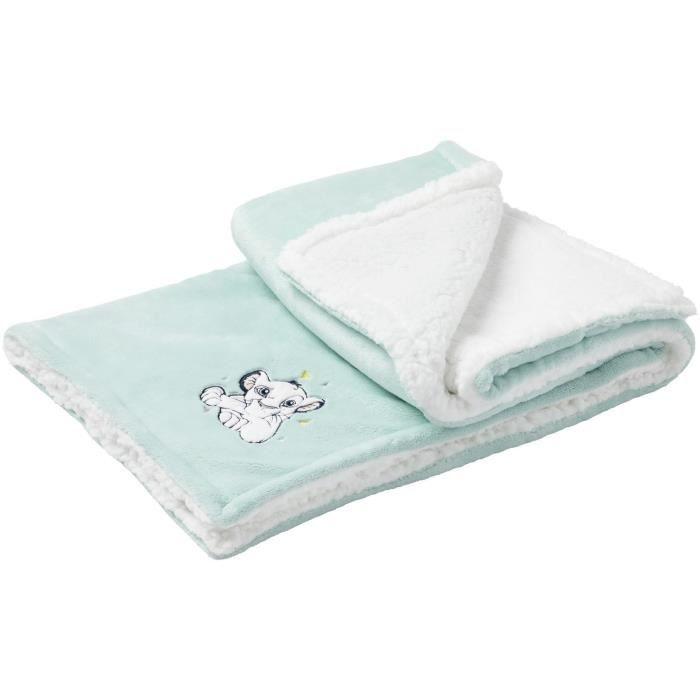 DISNEY Couverture bi-matière Roi lion - 75 x 100 cm - Flanelle 100% polyester Dos sherpa 100% polyester