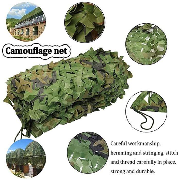 Filet de camouflage de 1,5 * 10 m, filet d'ombrage, adapté au camp militaire et à la décoration de la cour et à divers endroits
