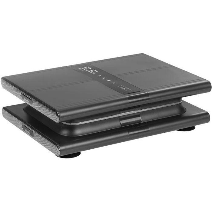 Skandika Sunna - Plateforme vibrante Moderne compacte - jusqu'à 20 Hz -Télécommande -20 Niveaux - 3 + 1 progr. -Gris/Argent