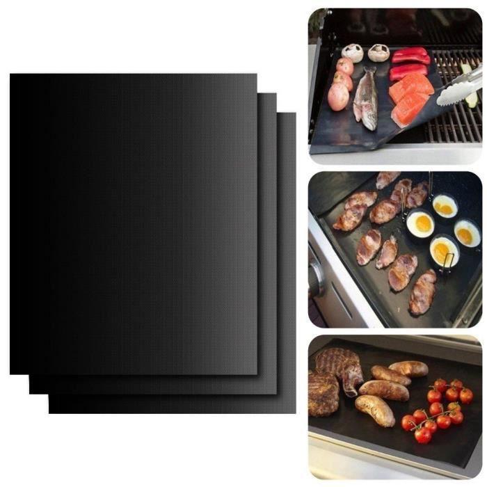3pack BBQ Non Stick Grill Ensemble d'accessoires de grillage antiadhésifs utilement pour gril à gaz électrique Home Cook16*13 inches