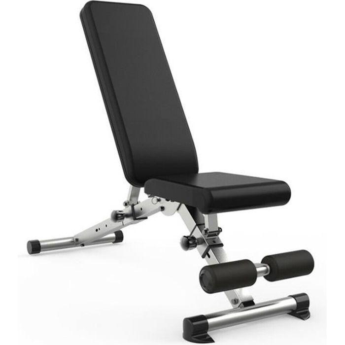 Banc de Musculation Multifonction Mixte Abdominaux d'entraînement Dossier Dorsaux Réglable Pliable Inclinable - Charge max 300kg