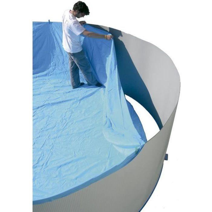 TORRENTE Liner pour piscine ovale en PVC 640x366x132cm - Bleu