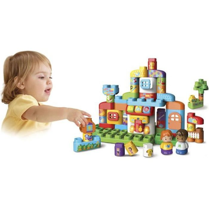 VTECH - Bla Bla Blocks - Ma Maison Alphabet Interactive - Blocs Parlants à Connecter