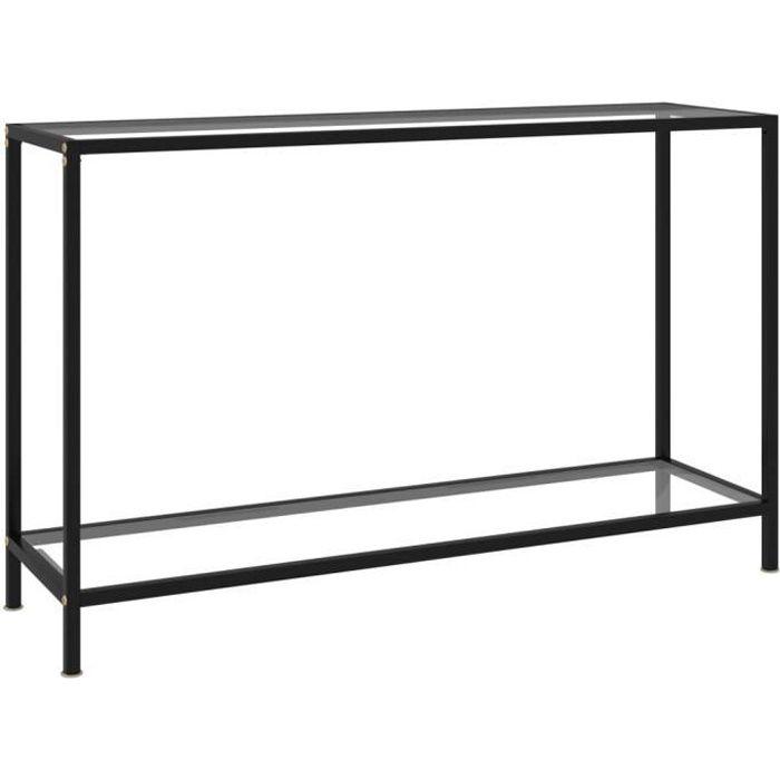 Zhihushop - Table console Transparent 120x35x75 cm Verre trempé