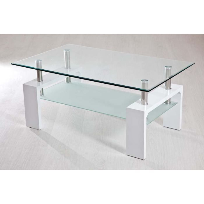 Table basse blanche 2 plateaux achat vente table basse table basse blanch - Table basse blanche but ...