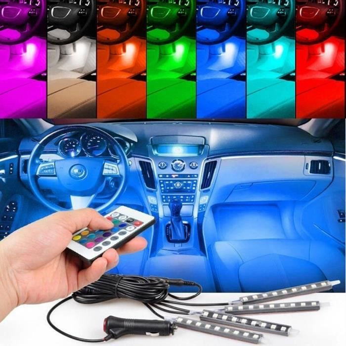 7 couleurs led voiture clairage intrieur kit voiture style intrieur dcoration atmosphre lumire