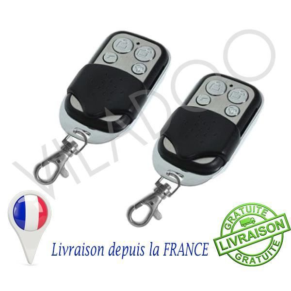 2x t l commande universelle 433 mhz garage alarme achat for Alarme garage sans fil