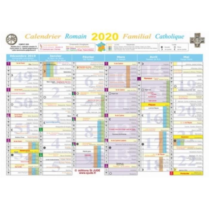Calendrier familial Catholique. Edition 2020   Achat / Vente