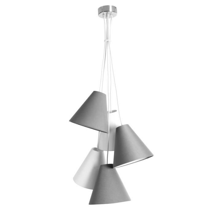 Miliboo suspension design gris et blanc lana achat for Suspension multiple design