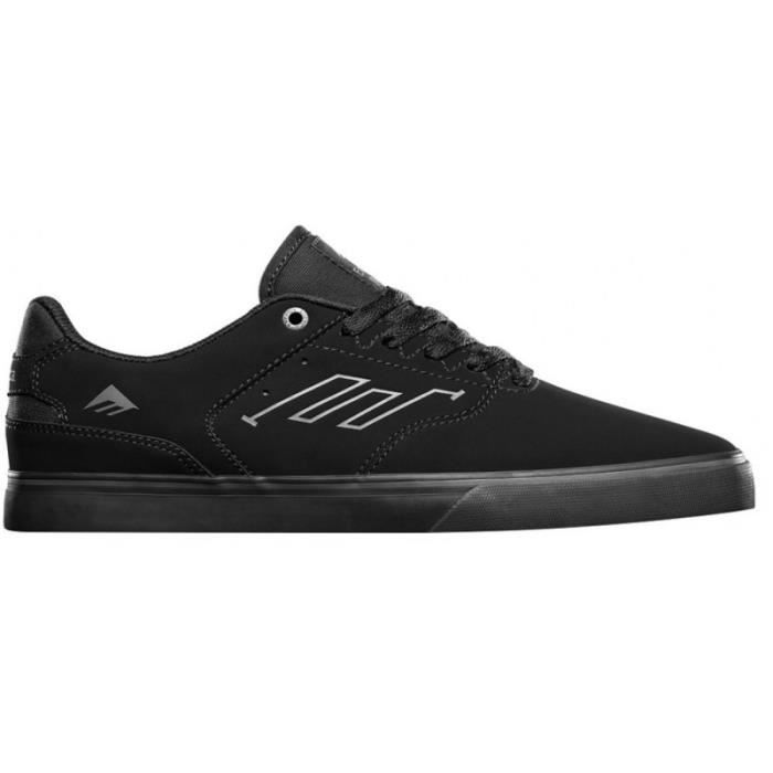 CHAUSSURES EMERICA THE REYNOLDS LOW VULC BLACK BLACK BLACK skateshoes