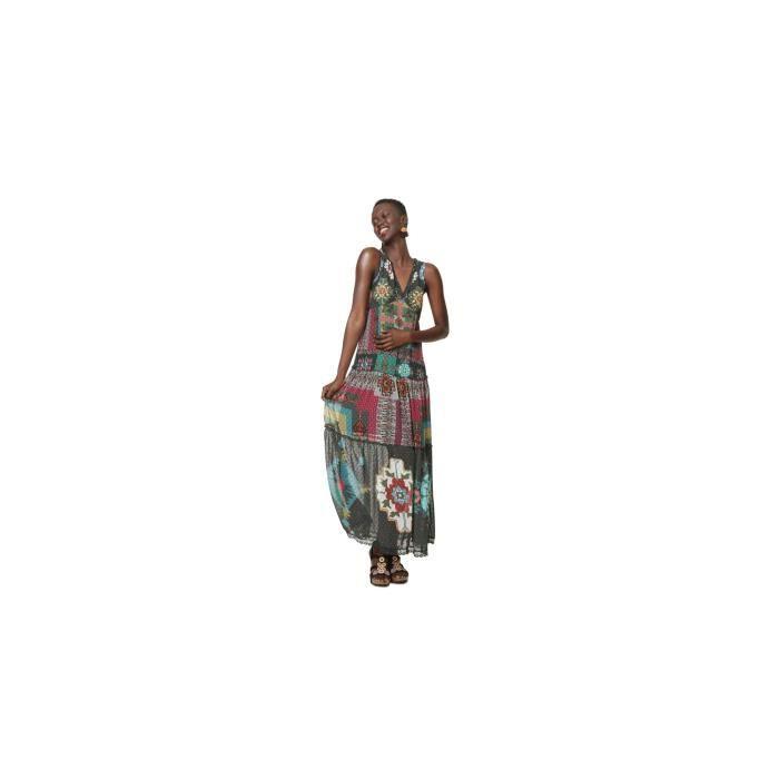 Desigual Robe Longue Nicole Vert 19swvw76 Taille 36 Vert Achat Vente Robe Bientot Le Black Friday Cdiscount