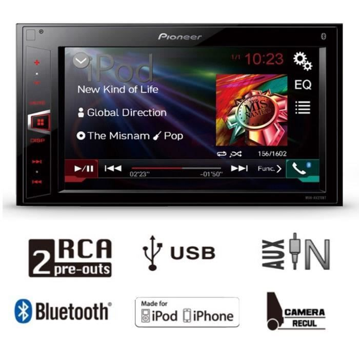 pioneer mvh av270bt autoradio 2din 6 2 bluetooth achat vente autoradio pioneer mvh av270bt. Black Bedroom Furniture Sets. Home Design Ideas