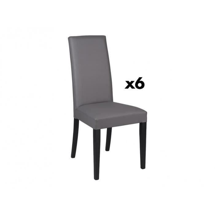 chaise 6 lot noir gris cdiscount et qUSzpMGV