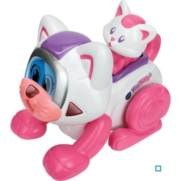vtech kidikitty et son petit achat vente robot animal anime cdiscount. Black Bedroom Furniture Sets. Home Design Ideas
