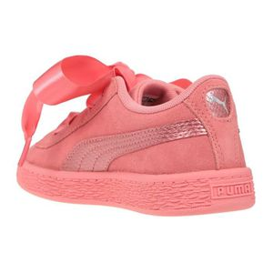 reputable site 8fad4 d3d57 ... BASKET PUMA Baskets Heart Suede - Enfant fille - Rose. ‹›