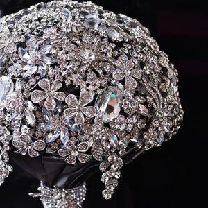 FLEUR ARTIFICIELLE classique 20cm luxe diamant faux bouquet de fleur