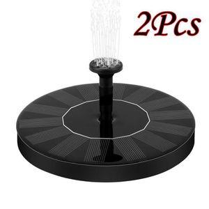 FONTAINE DE JARDIN 2pcs alimentation solaire oiseau fontaine eau déco