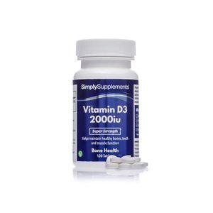 COMPLÉMENT EN MINÉRAUX Vitamine D3 2000iu | 120 comprimés