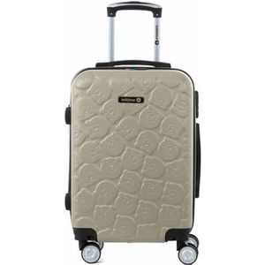 VALISE - BAGAGE Valise cabine trolley 55 cm en ABS Gold - TEDDY BE
