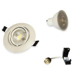SPOTS - LIGNE DE SPOTS Lot de 15 Spots LED 7W Encastrable et orientable c