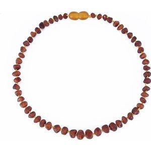 COLLIER AMBRE collier d'ambre pour bébé(Cognac Raw)(33cm) - Forf