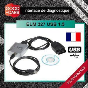 OUTIL DE DIAGNOSTIC ELM327 PRO 1.5 USB - Valise Diag Auto OBD