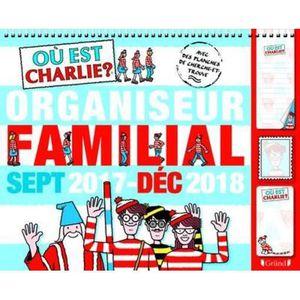 Livre Ou Est Charlie Organiseur Familial De Septembre 2017 A Decembre 2018