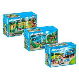 UNIVERS MINIATURE Playmobil 9276-77-78 Set City Life Soins des anima