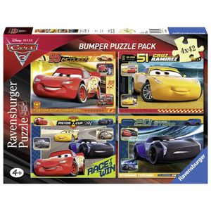 PUZZLE CARS Puzzle 4x42 pcs - Disney