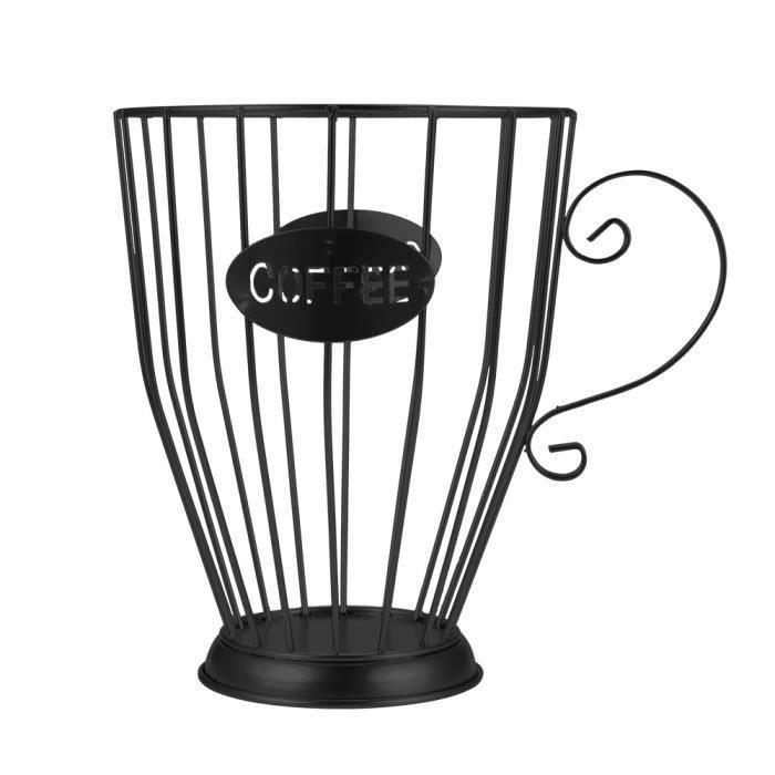 Panier de rangement universel de Capsule de café panier de tasse de café organisateur de dosette de café Vintage-Noir grand-,-isCd