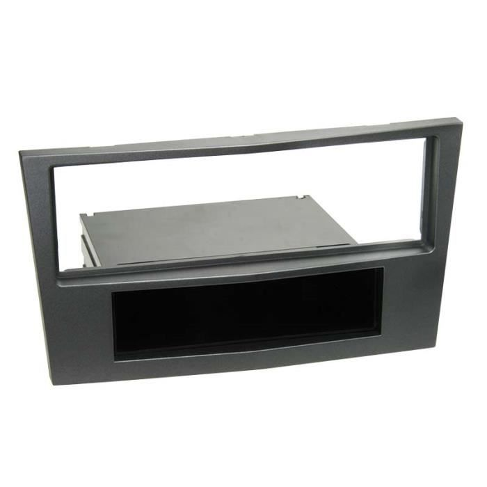 Adaptateur de façade 1-DIN avec vide poche Opel charbon metallic