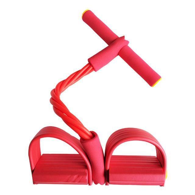 Cordes de traction élastiques pour renforcement Abdominal, bandes de résistance élastiques pour équipement de Fitness-Rouge