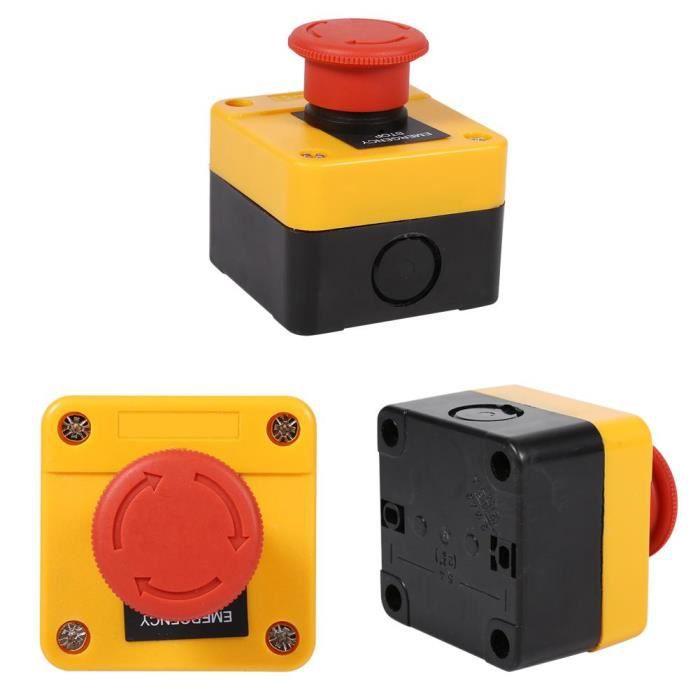 1 Pc 660V 10A Commutateur en plastique coquille rouge, bouton-poussoir nouveau d'arrêt d'urgence-CHE