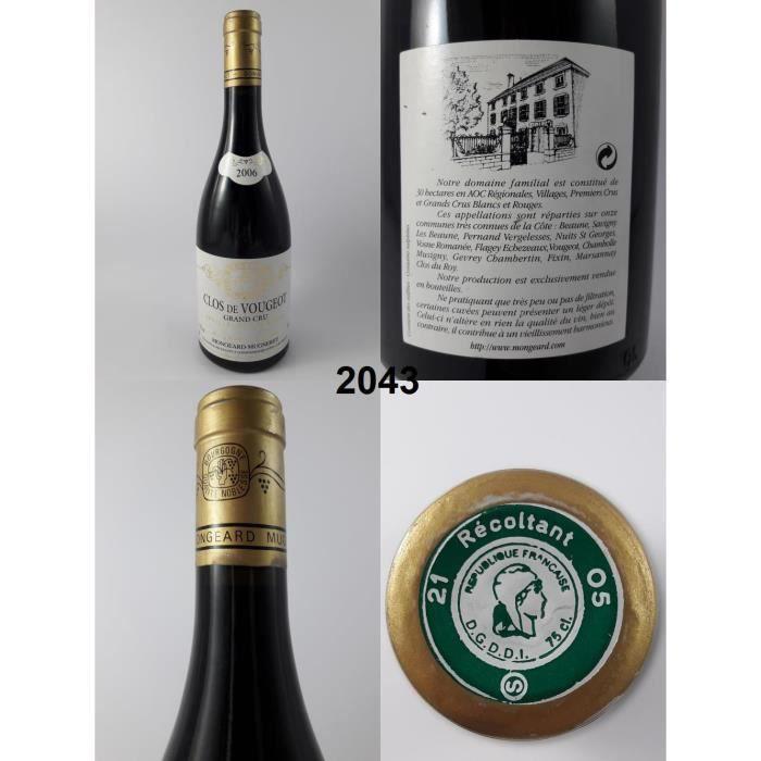 Clos de Vougeot - Mugneret 2006 - N° : 2043, Clos de Vougeot, Rouge