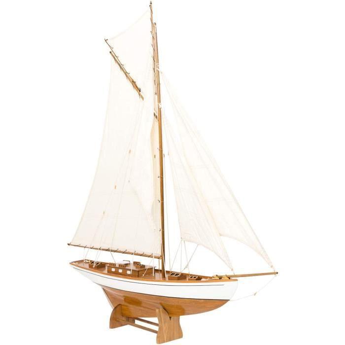 Kits de modélisme de bateaux aubaho Maquette de voilier-Yacht à voiles - Bois - H 135 cm 91682