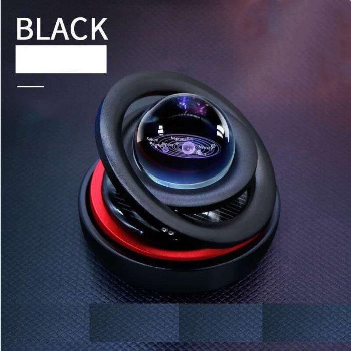 Lévitation magnétique solaire pour voiture, ornements créatifs rotatifs, décoration de voiture, système solaire, F Black -FJFK8615