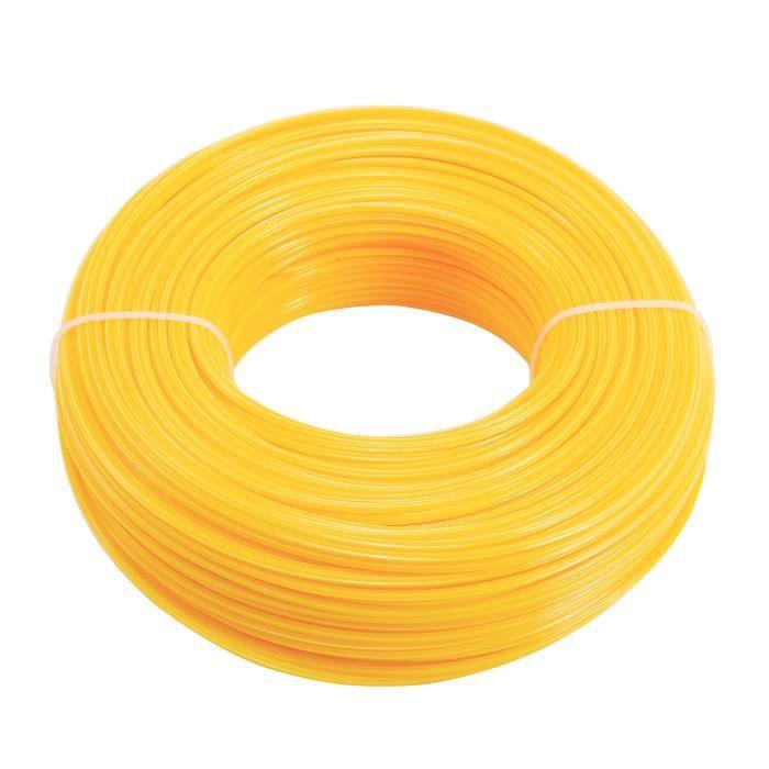 100M fil nylon pr débroussailleuse tondeuse a gazon 2,4mm coupe-bordure