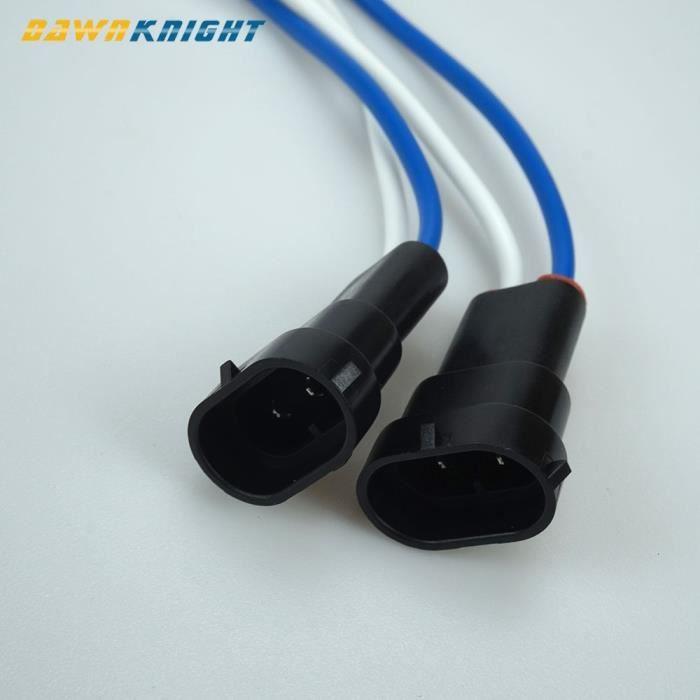 H11 Femail Connectr -Ampoule de voiture H9 H11, connecteurs mâles Femail, connecteur universel de phare antibrouillard, prise H9 H11