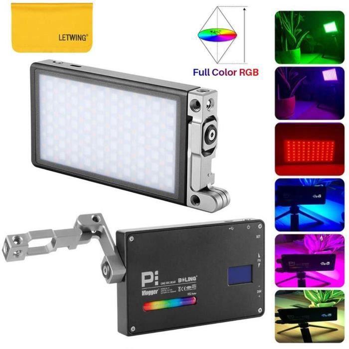 BOLING BL-P1 LED vidéo Lumière de Poche LED RGB Dimmable 2500K-8500K Couleur avec Batterie intégrée Système de Support réglable à