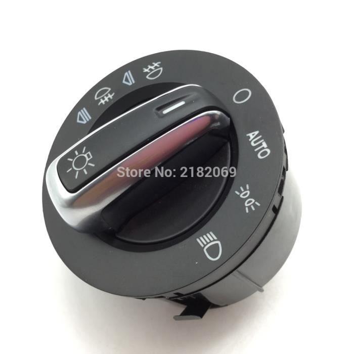 Phares et optiques,Phare chromé interrupteur contrôle w-Automatique Pour AUDI A3 A6 S6 C6 RS6 Allroad Q7 4FD941531A ,4F1941531E,4FD