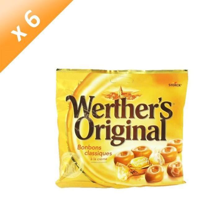 [LOT DE 6] WERTHER'S ORIGINAL Caramels au beurre et à la crème - 175 g
