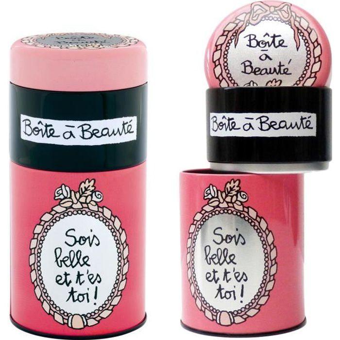 Boites Empilables À Beauté SOIS BELLE en Métal de Rangement pour Accessoires Cheveux Salle Bain Valérie Nylin Dlp Derrière La Porte