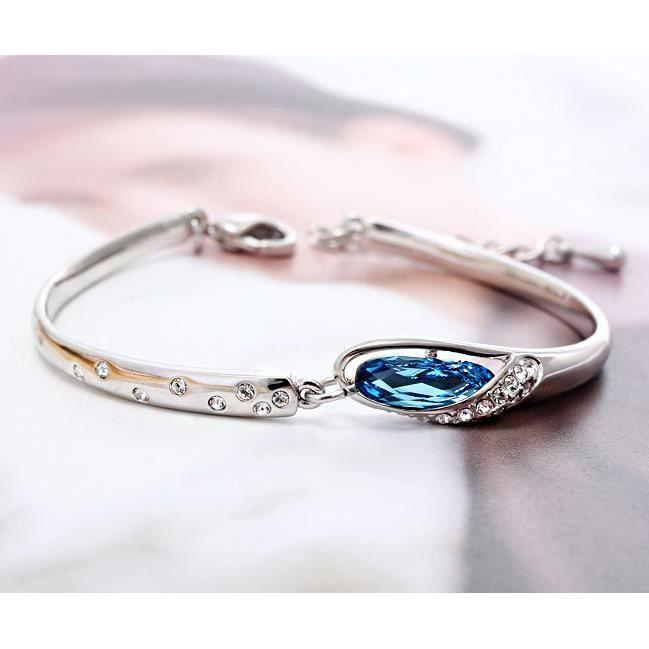 Cristal Swarovski Elements bijoux bracelet bracelets de pantoufle de verre.