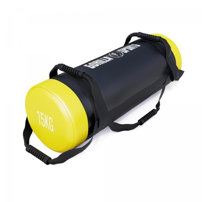 Fitness bag noir-rouge - Sac lesté 15kg