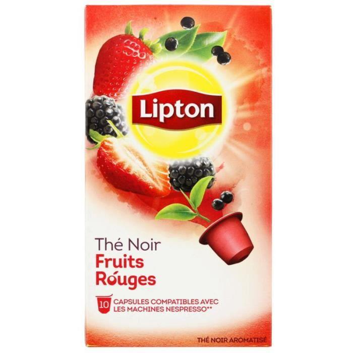 Thé Noir Fruits Rouges 10 capsules Lipton