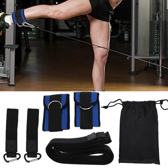 GOL-Lv.life☀Sangle de cheville d'exercice de gymnastique d'anneau en D bandes de résistance ceinture extensible en corde de sport☀