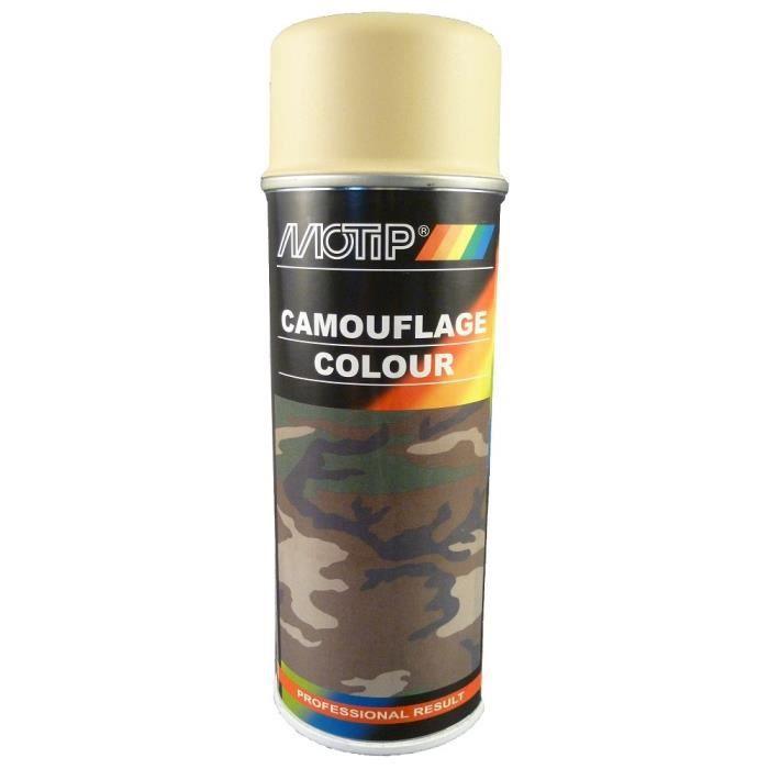 motip aerosol peinture camouflage colour beige ral 1001 SPRAY CAN BOMBE PAINT CSK AUTO MOTO QUAD VELO BATAEU AVION JEEP GRAFF ART C4