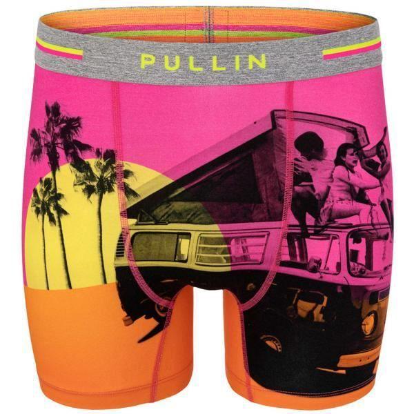PULL IN Boxer Long Homme Coton Bio SURFFRIEND Rose Orange