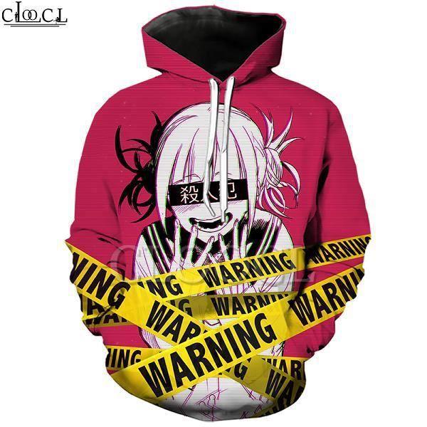 Sweatshirt Homme COSPLAY,Sweat à capuche Anime fille Toga Himiko My Hero Academia, impression 3D, à manches longues, pulls à capuc